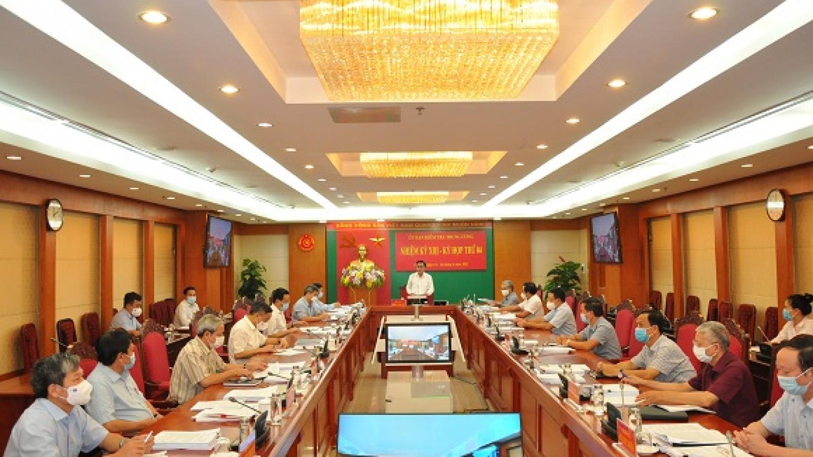 Toàn văn thông báo kỳ họp thứ 4 Ủy ban Kiểm tra Trung ương