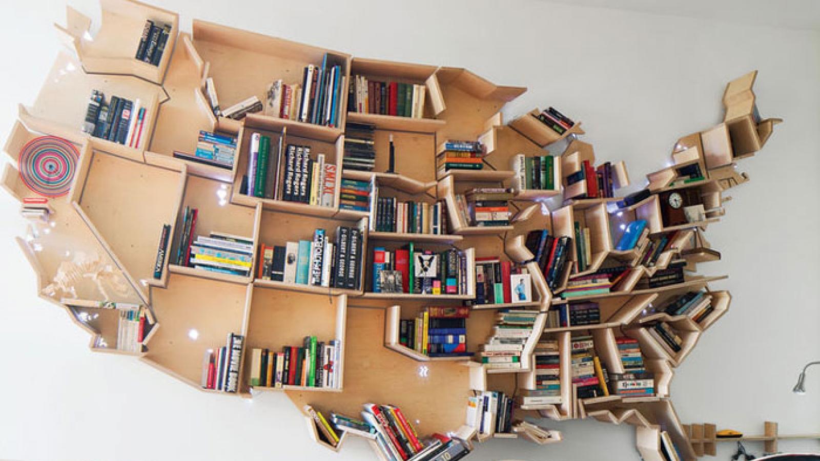 7 ý tưởng thiết kế giá sách đẹp mắt