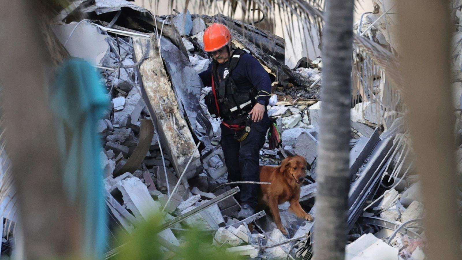 Số nạn nhân trong vụ sập tòa nhà chung cư ở Mỹ tiếp tục tăng