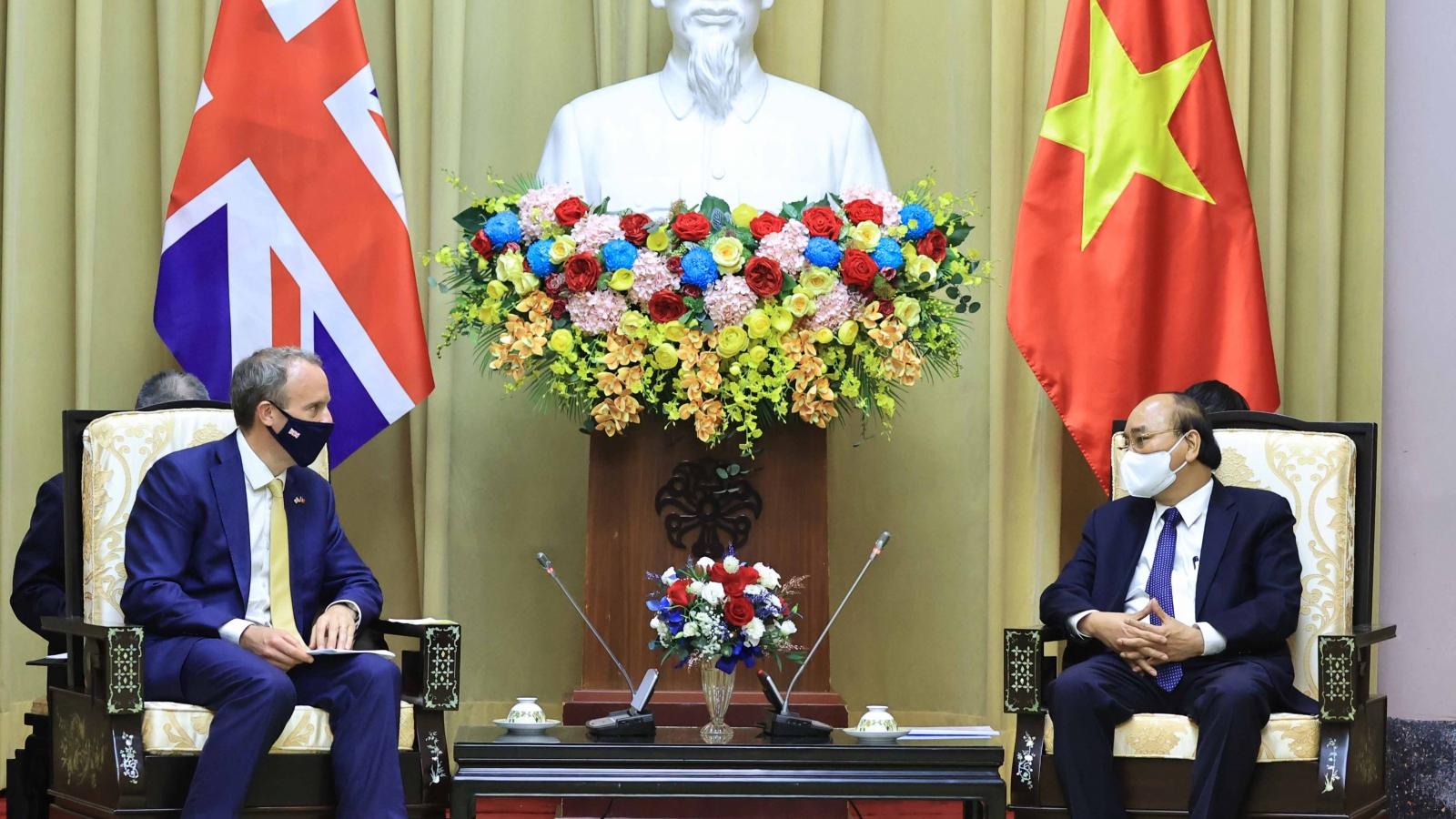 Tiếp tục đẩy mạnh, đưa quan hệ đối tác chiến lược Việt Nam-Anh đi vào chiều sâu, hiệu quả