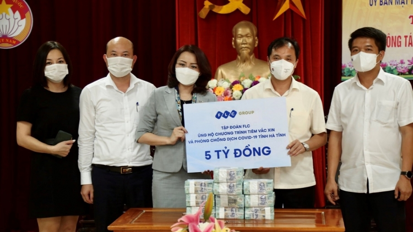 Chung tay chống dịch cùng hàng loạt tỉnh thành, FLC tiếp tục ủng hộ Hà Tĩnh 5 tỷ đồng