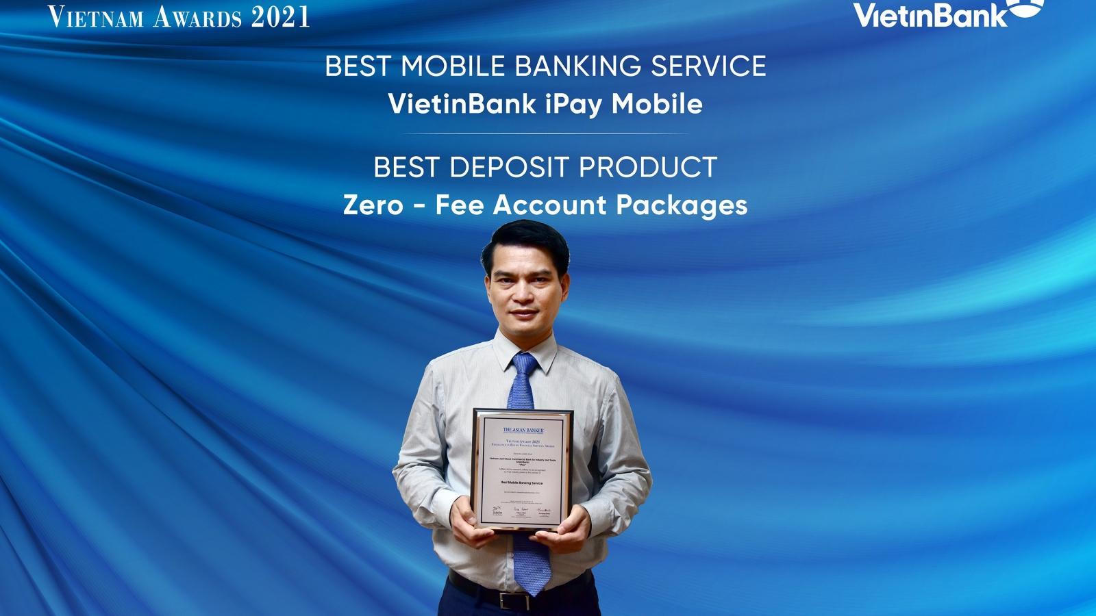 VietinBank nhận 2 giải thưởng quốc tế uy tín về ngân hàng bán lẻ