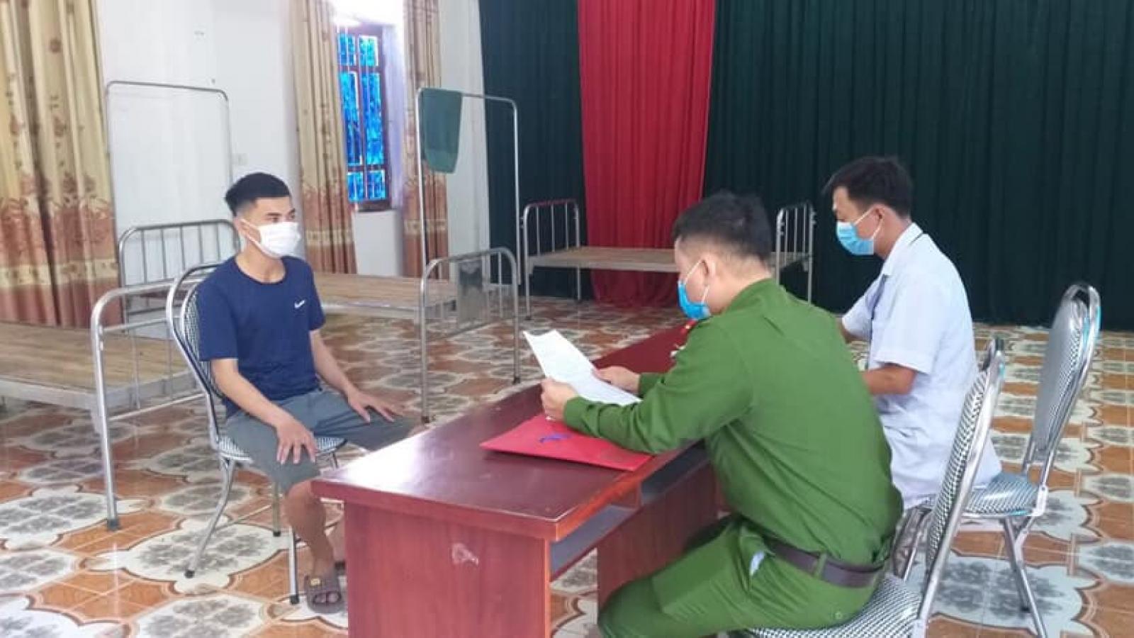 Phạt thanh niên bỏ trốn khỏi khu cách ly ở Nghệ An