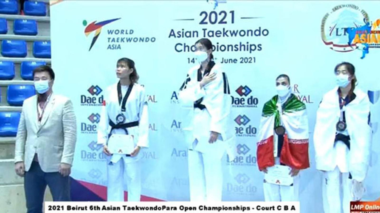 Vietnam wins silver at Asian Taekwondo Champs 2021