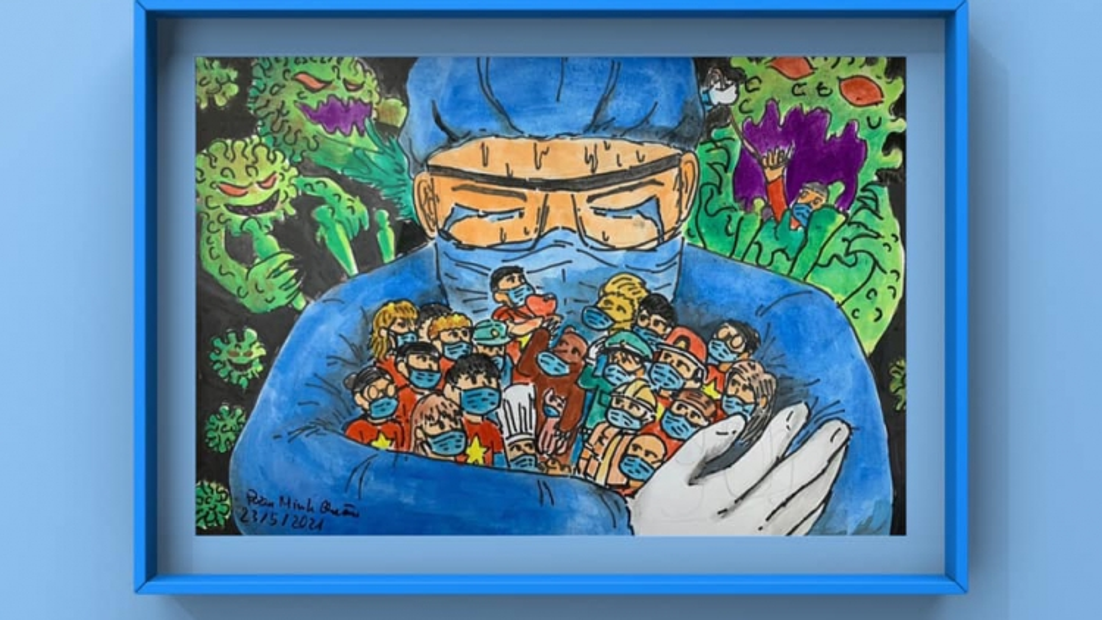 """Children draw Hanoi"" paintings on display"