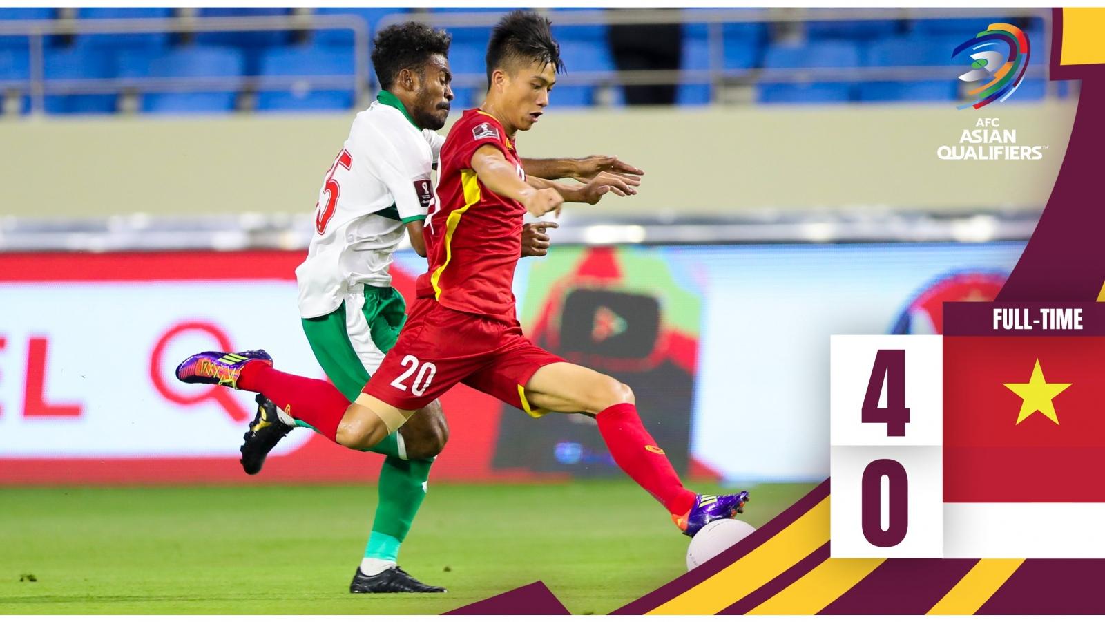 Bảng xếp hạng vòng loại World Cup 2022 khu vực châu Á: Tuyệt vời ĐT Việt Nam