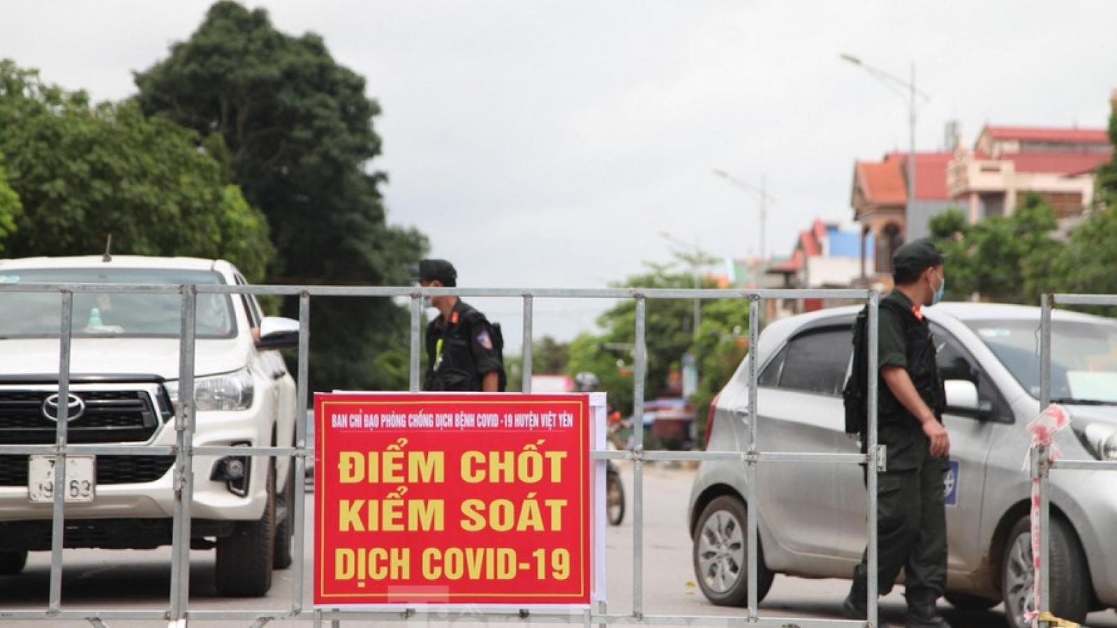Dỡ bỏ cách ly xã hội huyện Hiệp Hòa, Bắc Giang