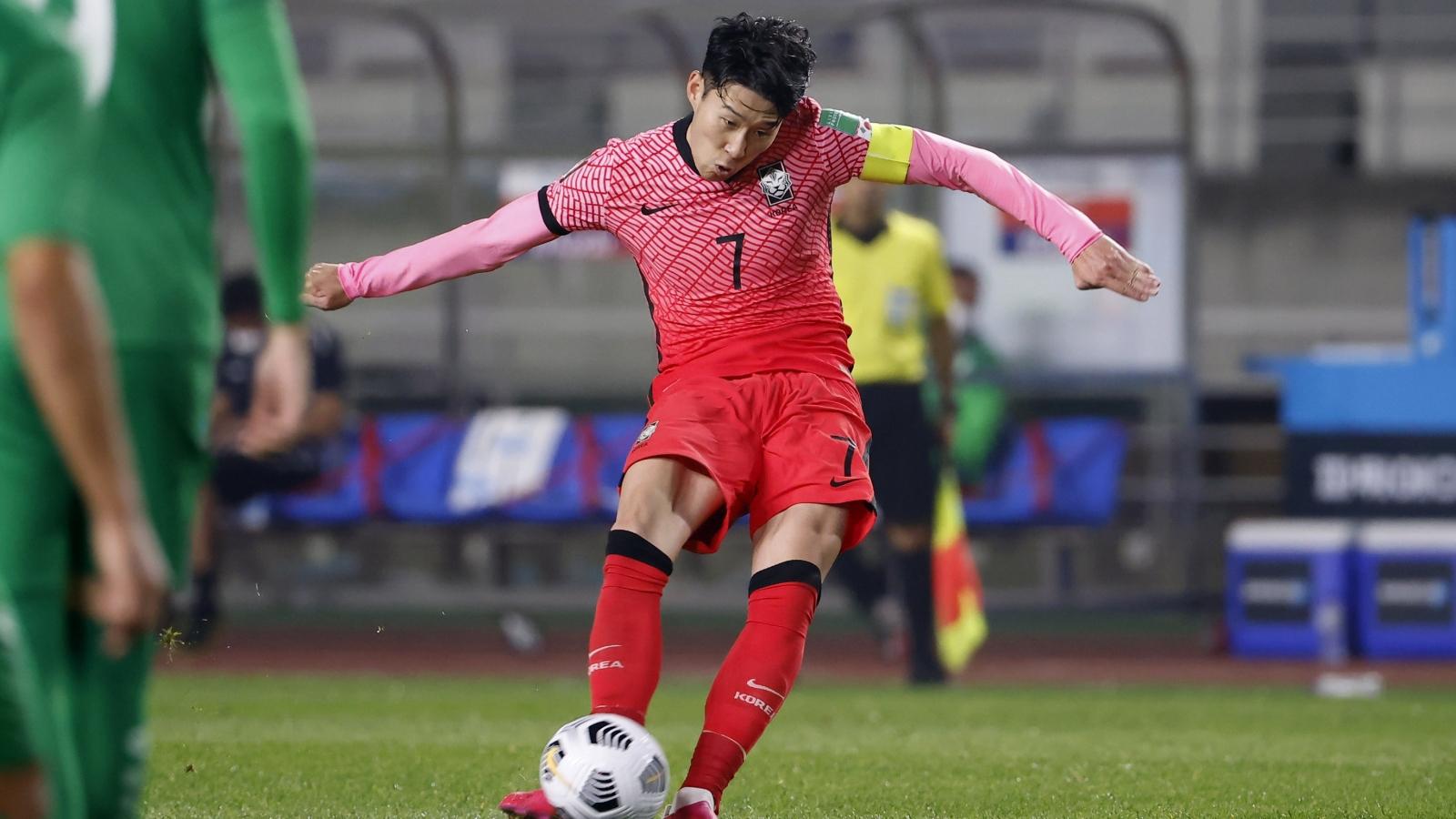 """Vòng loại World Cup 2022: Son Heung Min """"vô duyên"""", Hàn Quốc vẫn thắng đậm Turkmenistan"""