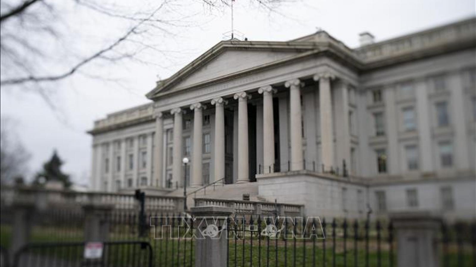 Thâm hụt ngân sách Mỹ tháng 5 vượt mức 2.000 tỷ USD