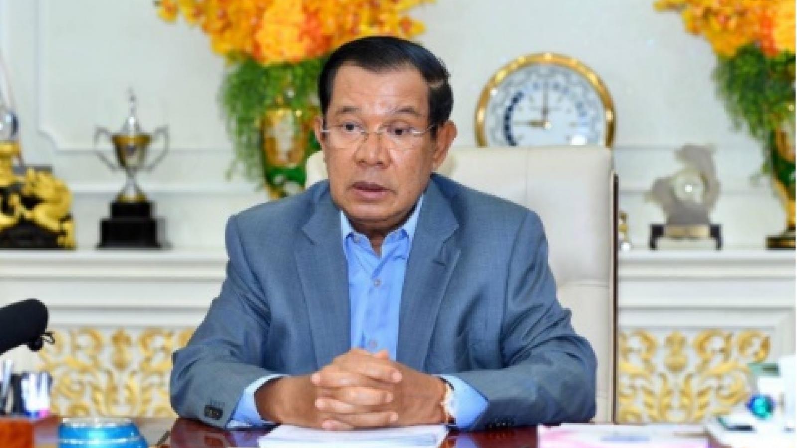 Thủ tướng Campuchia tuyên bố tự cách ly do liên quan tới bệnh nhân Covid-19