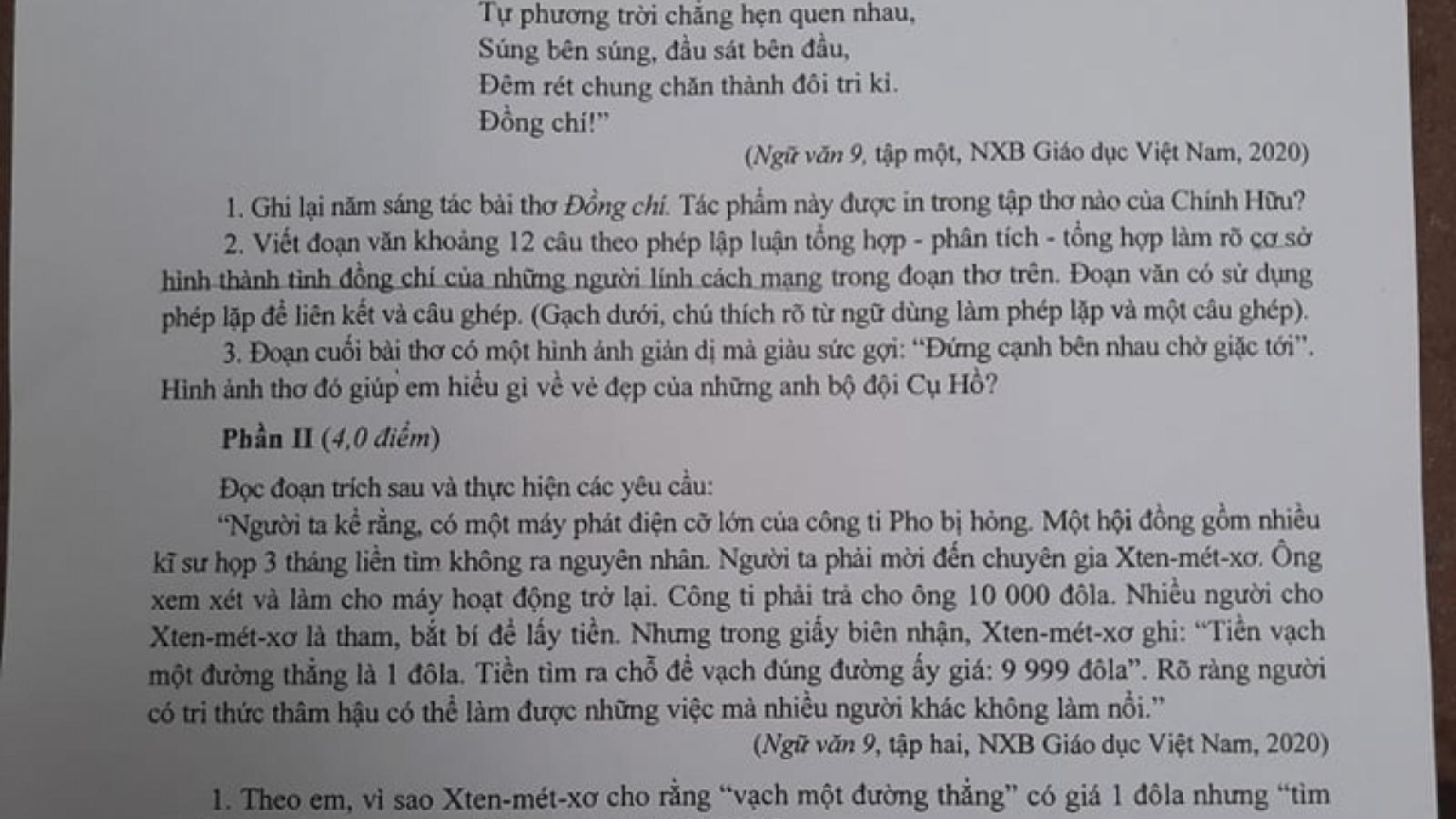 Hướng dẫn giải đề thi Ngữ văn vào lớp 10 tại Hà Nội