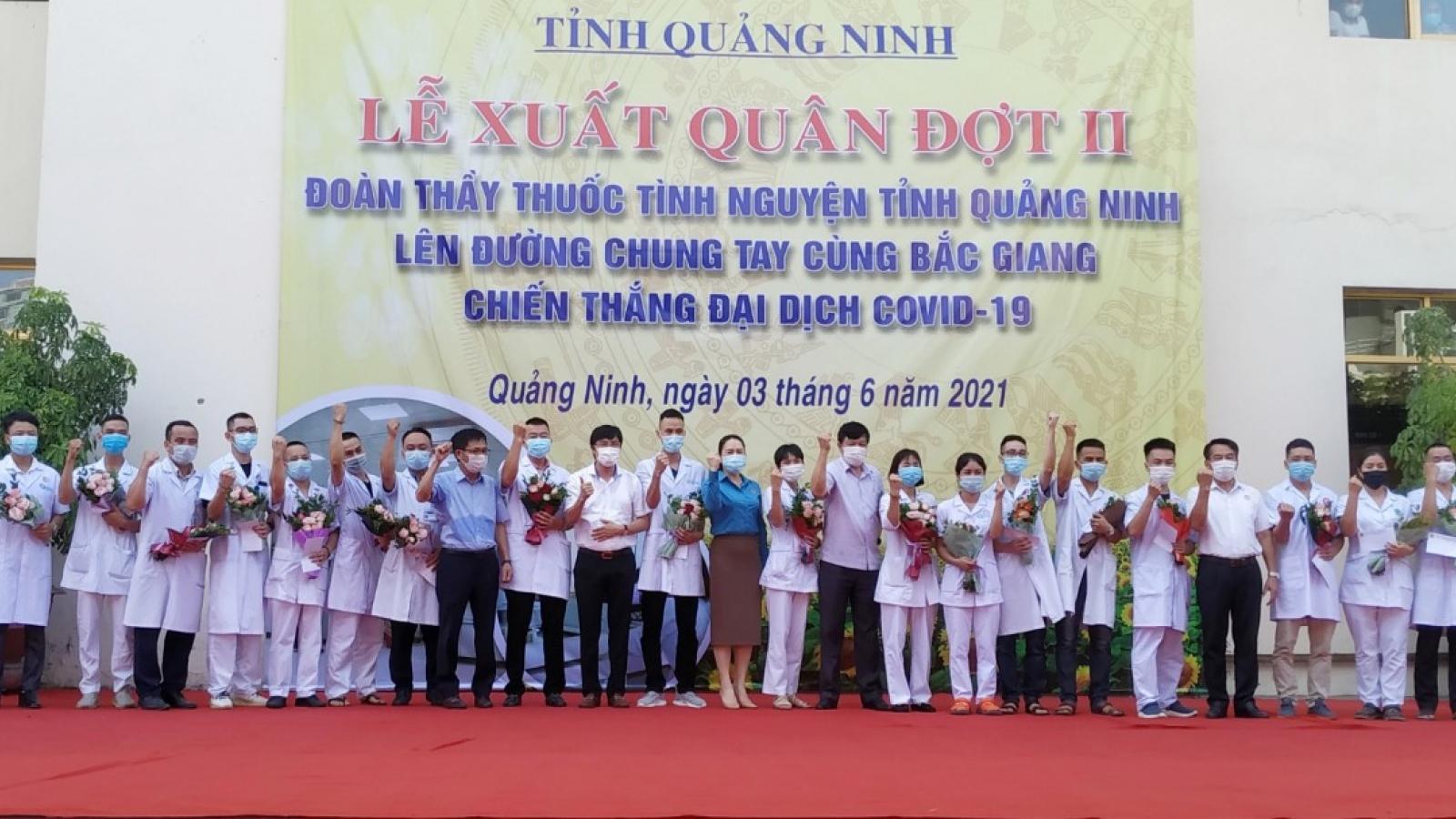 Quảng Ninh, Phú Thọ tiếp tục chi viện cho tâm dịch Bắc Giang
