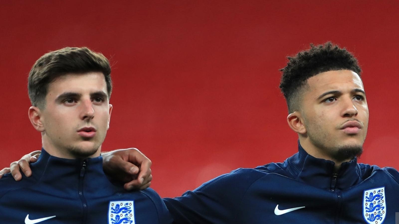 Đội hình dự kiến của Anh trước CH Séc: Sancho thế chỗ Mount