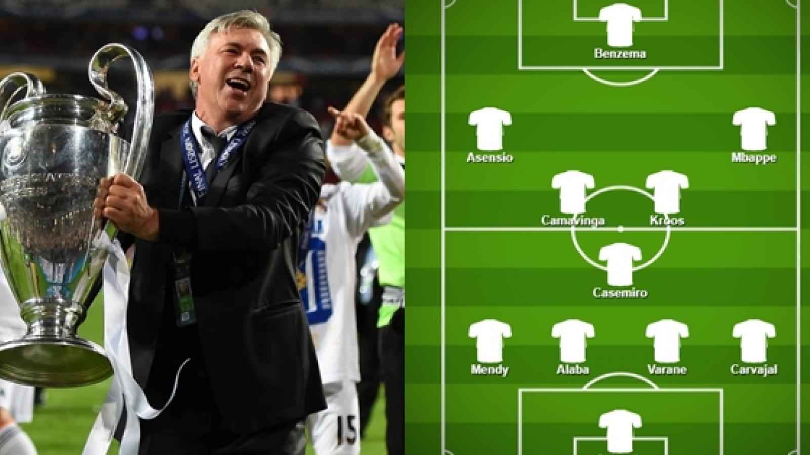 Dự đoán đội hình tối ưu của Real Madrid dưới thời HLV Carlo Ancelotti