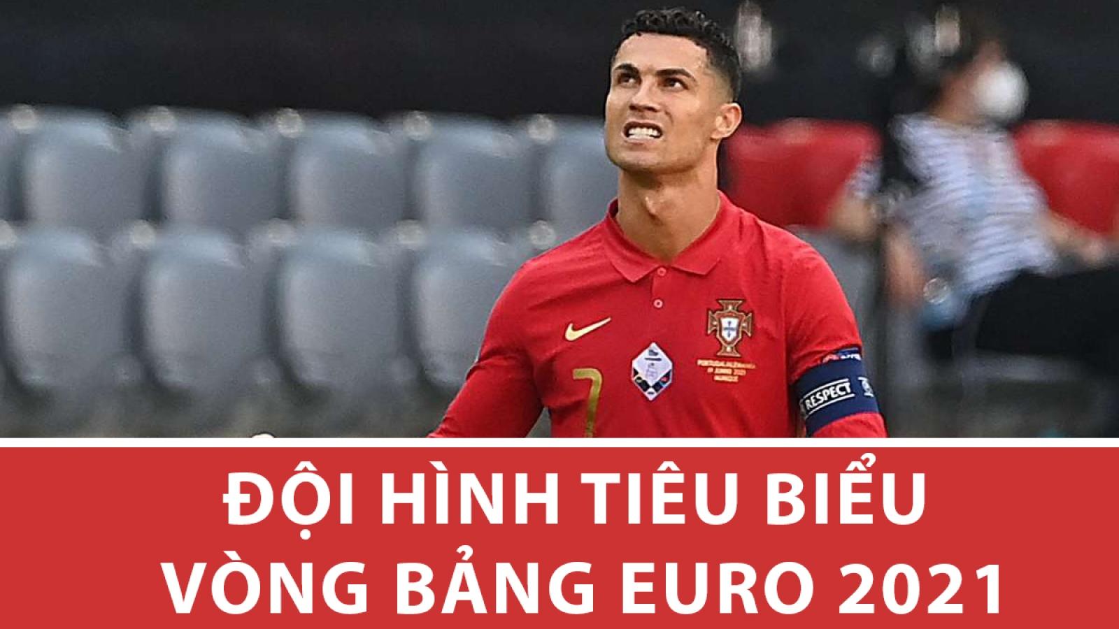 Đội hình tiêu biểu vòng bảng EURO 2021: Ronaldo đá cặp với Depay