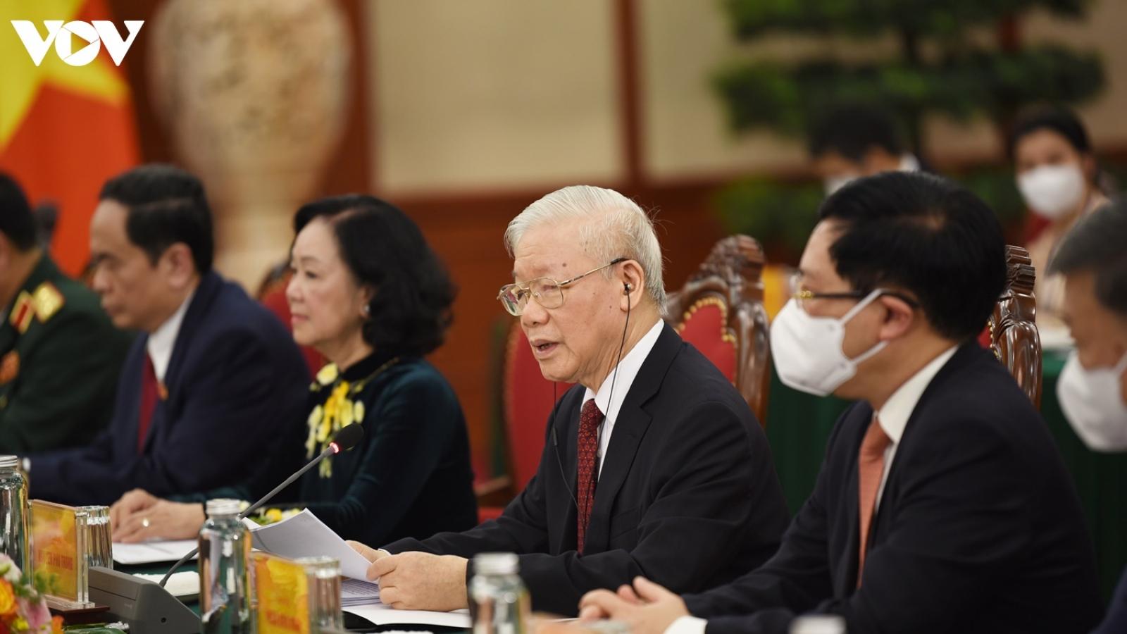 Hình ảnh lễ đón và hội đàm giữa lãnh đạo Việt Nam và Tổng Bí thư, Chủ tịch nước Lào