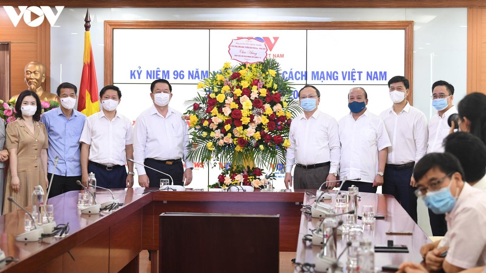 Trưởng Ban Tuyên giáo Trung ương chúc mừng VOV nhân Ngày Báo chí Cách mạng Việt Nam