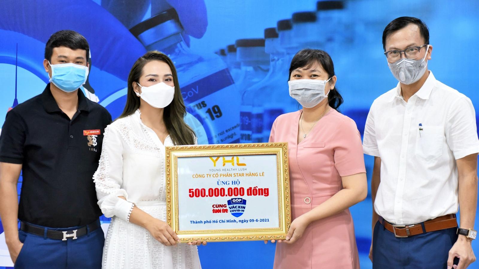YHL Star Hằng Lê ủng hộ 500 triệu đồng cho Quỹ vaccine phòng COVID-19