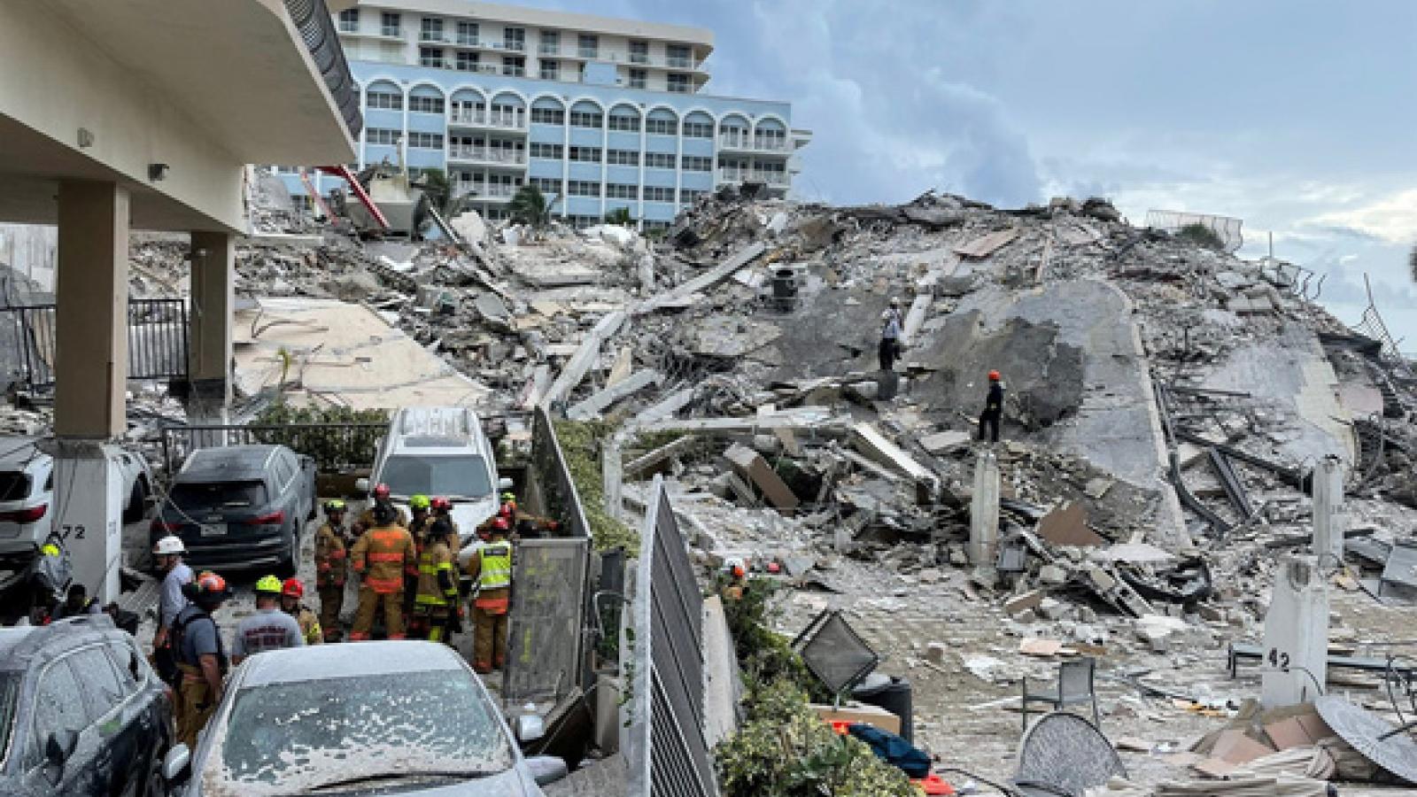 9 người được xác nhận đã chết sau vụ sập tòa nhà chung cư tại bang Florida, Mỹ