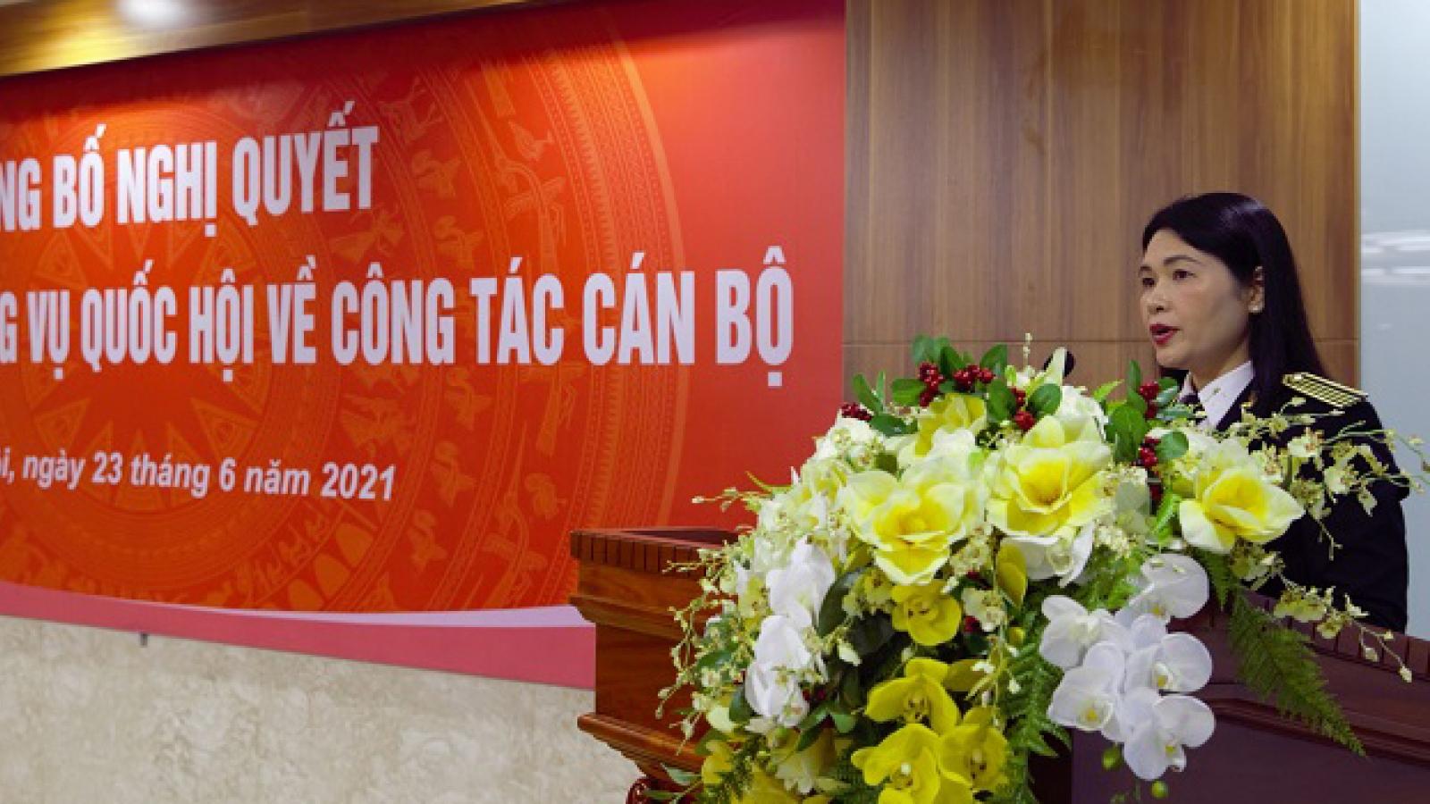 Bà Hà Thị Mỹ Dung là nữ Phó Tổng Kiểm toán Nhà nước đầu tiên