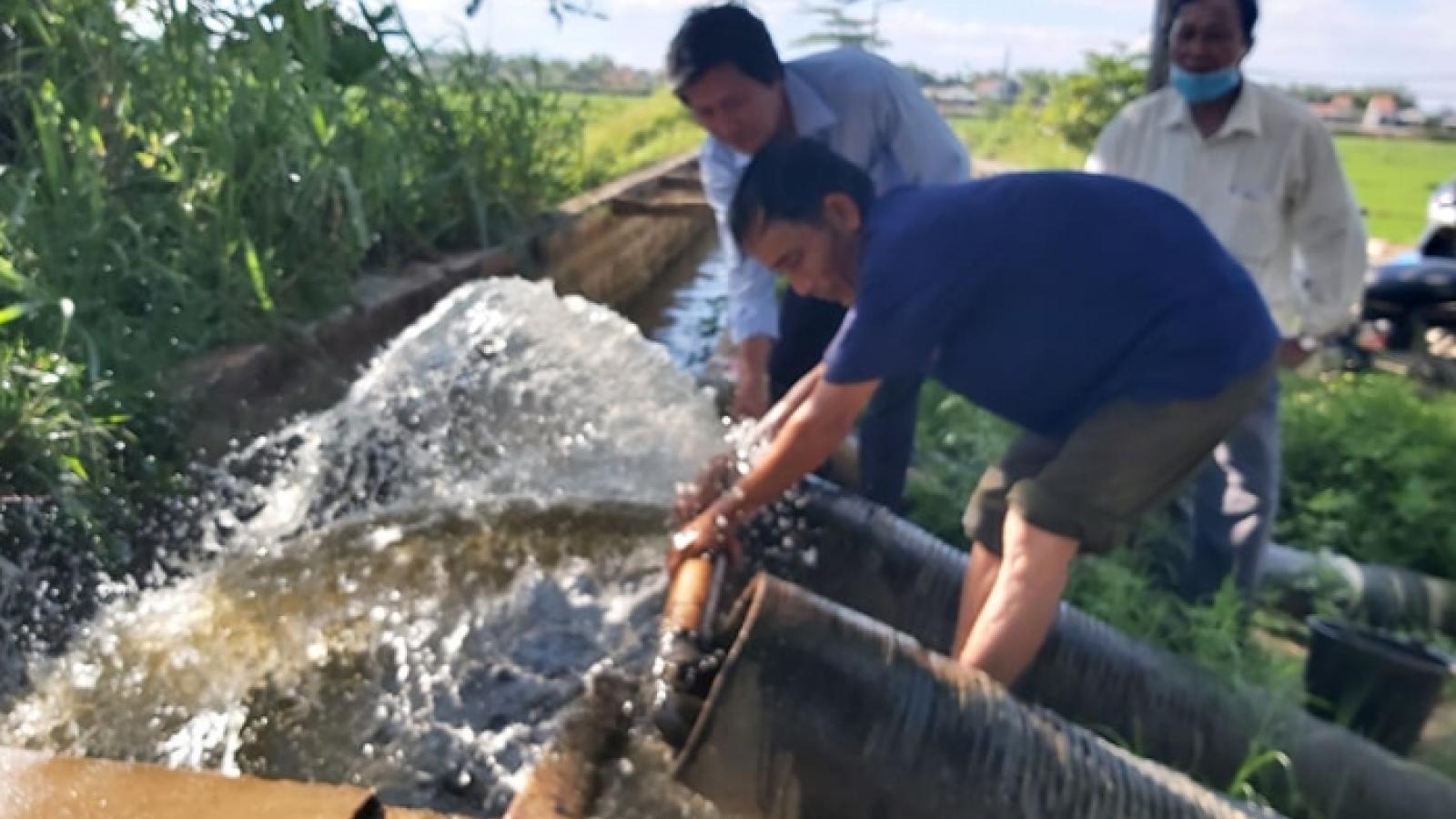 Nắng nóng kéo dài, Quảng Nam ứng phó với nhiễm mặn
