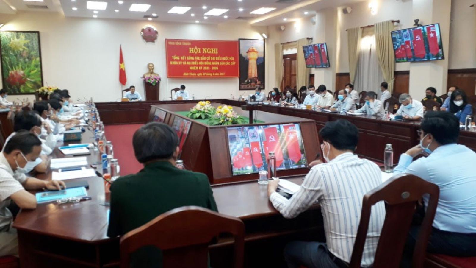 Bình Thuận tổng kết công tác bầu cử đại biểu Quốc hội và HĐND các cấp