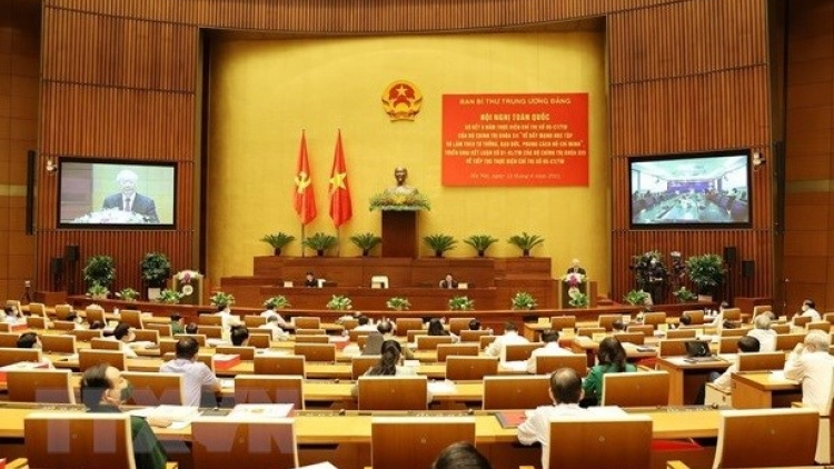 Speech of Party leader Nguyen Phu Trong at conference reviewing 12th Politburo's Directive