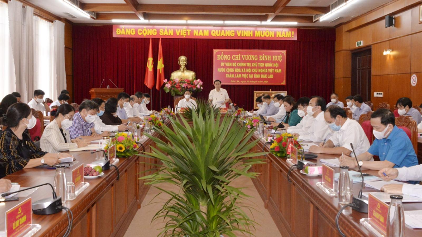 Chủ tịch Quốc hội đề nghị Đắk Lắk quan tâm an ninh, trật tự an toàn xã hội