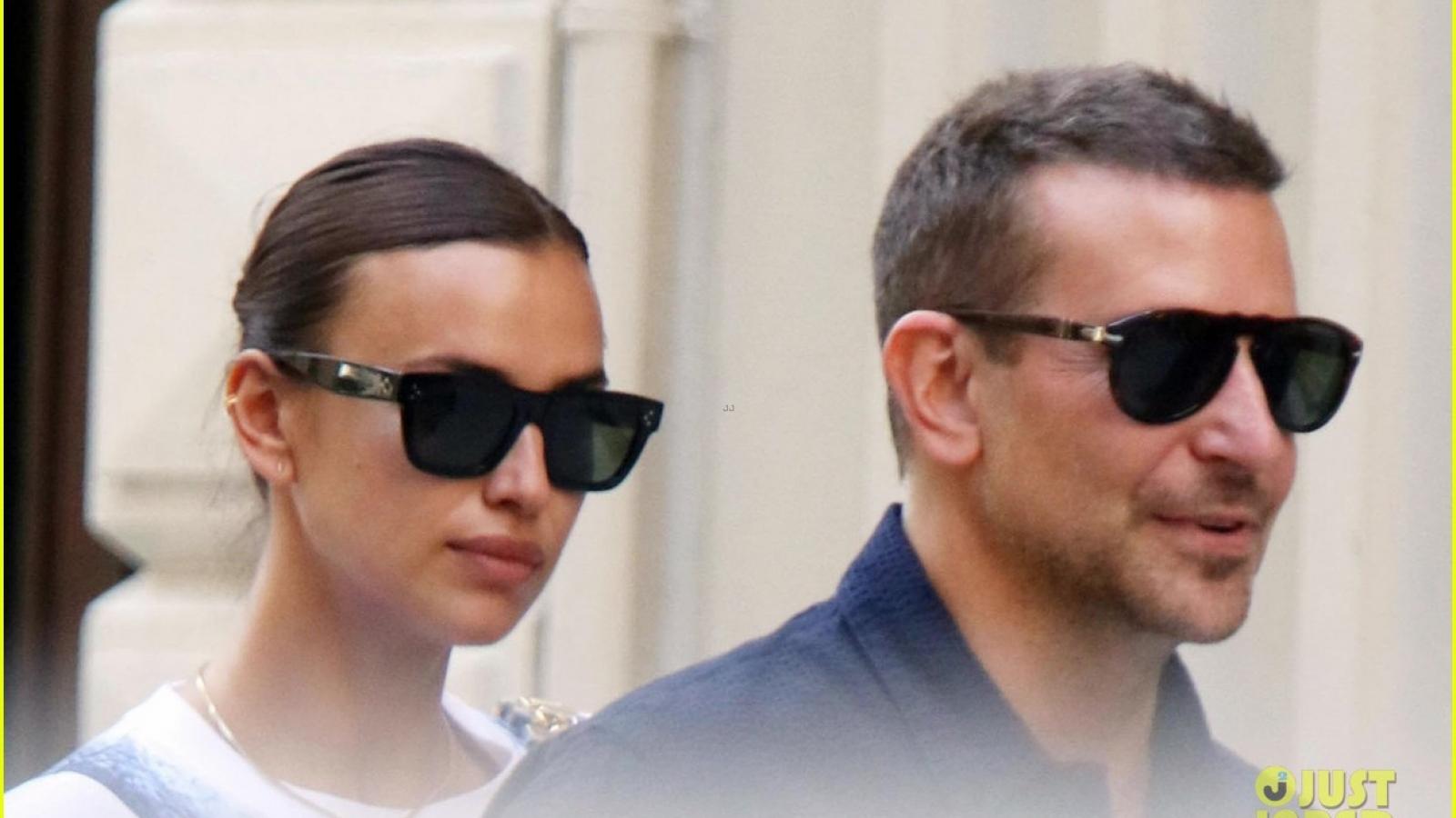 Irina Shayk vui vẻ sánh đôi cùng tình cũ Bradley Cooper trên phố