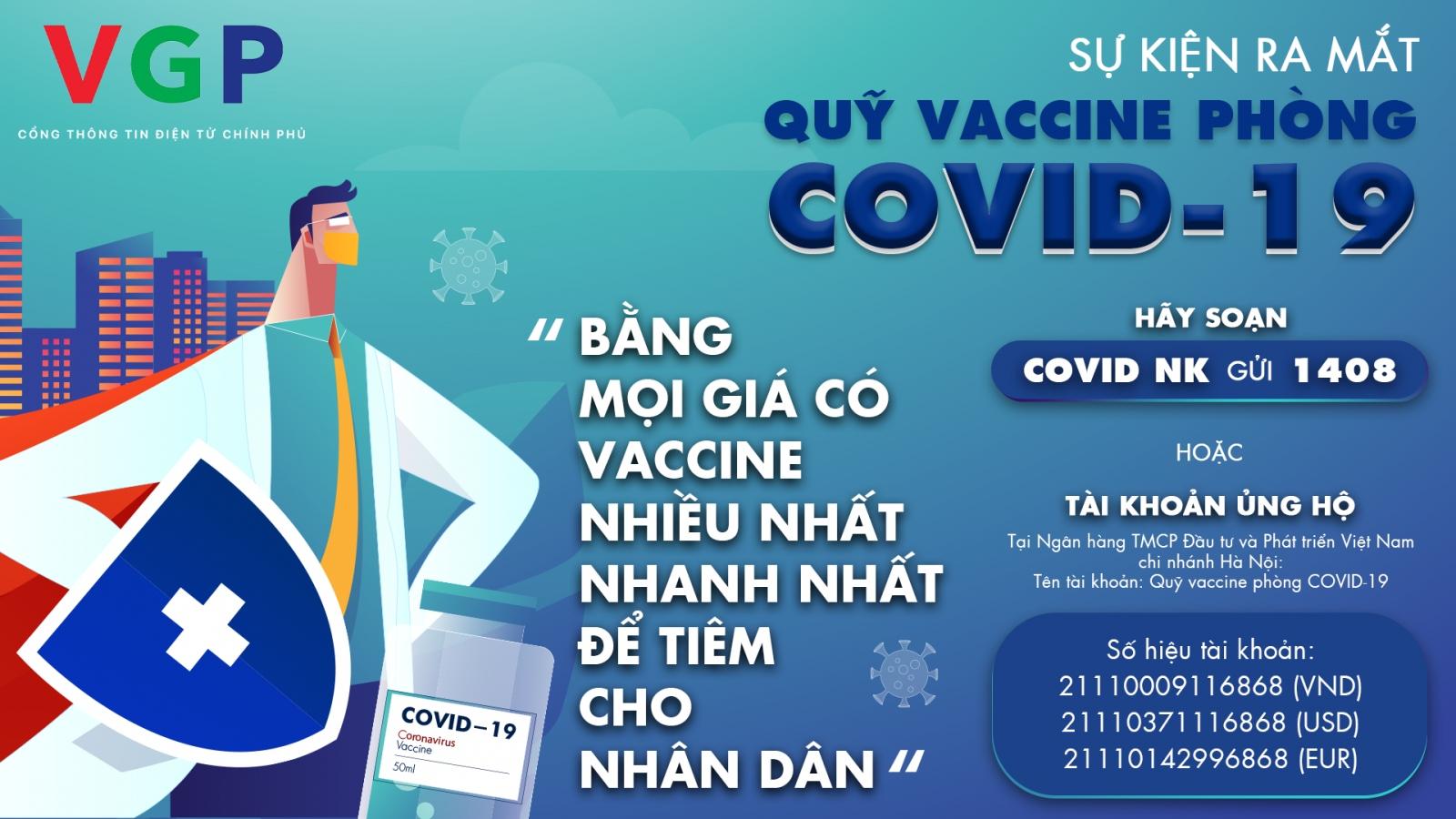 Ra mắt Quỹ vaccine phòng Covid-19