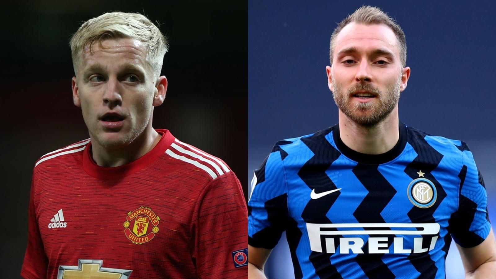 Inter Milan muốn đón Van De Beek từ MU để thế chỗ Eriksen