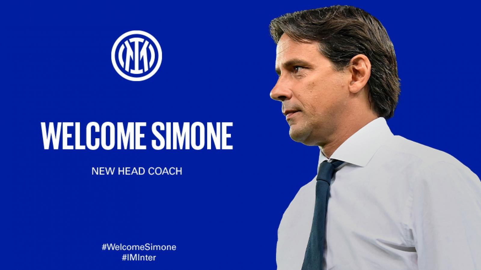 Chính thức: Inter Milan bổ nhiệm Simone Inzaghi thay thế HLV Conte