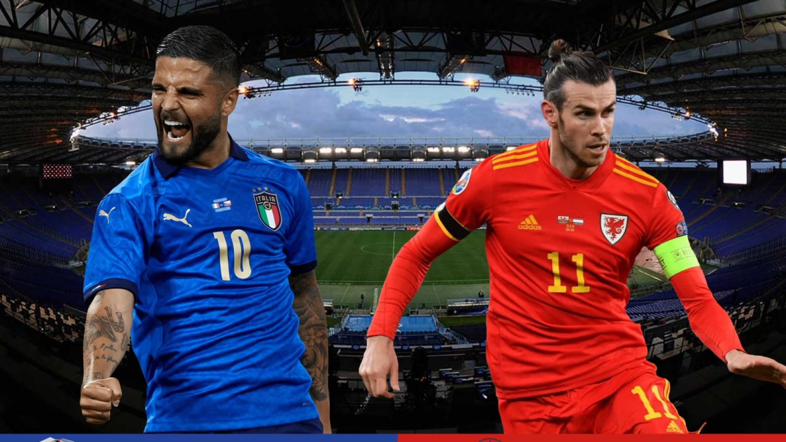 TRỰC TIẾP bóng đá Italia - Xứ Wales: Binh đoàn Azzurri thăng hoa