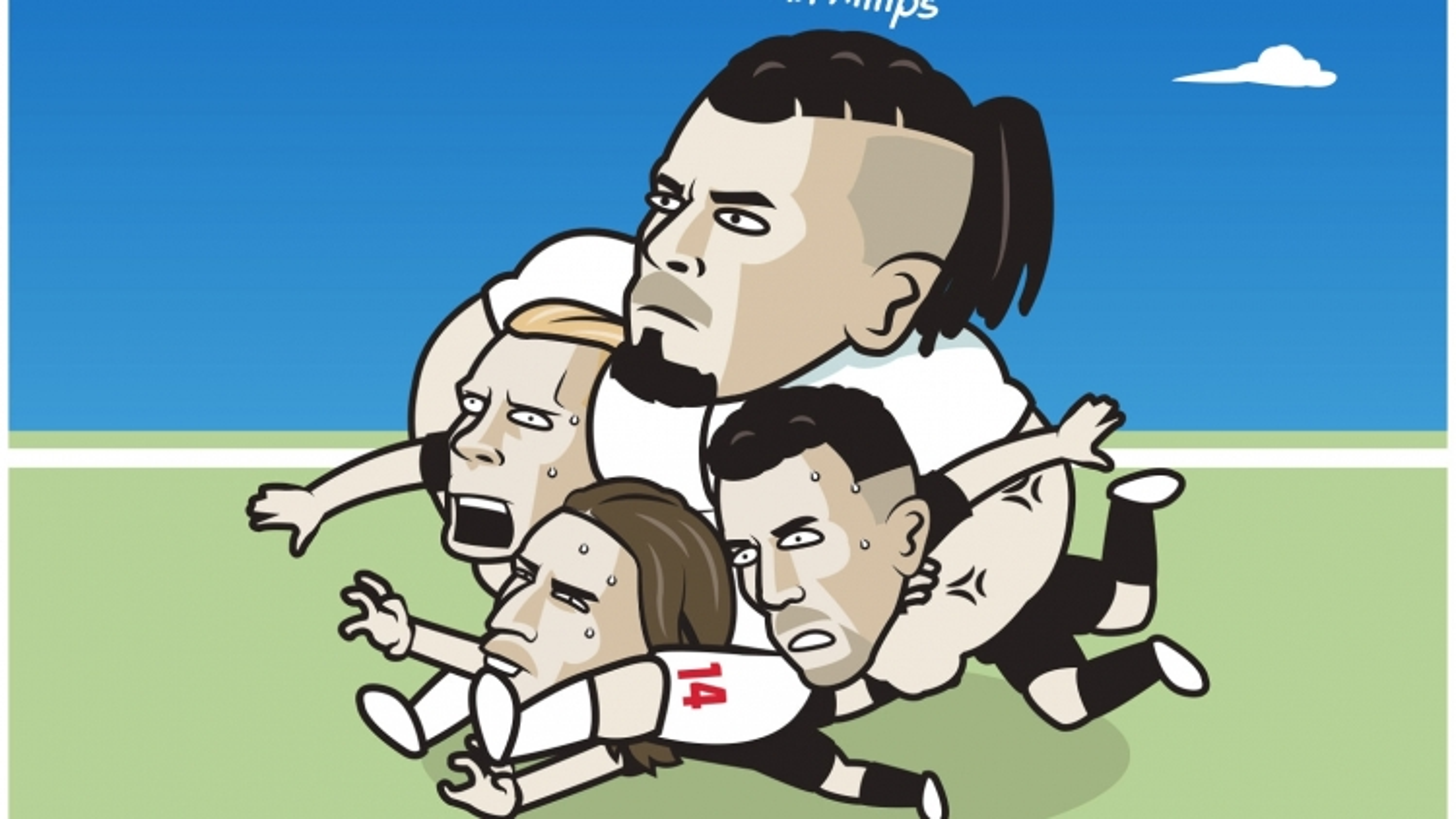 """Biếm họa 24h: Kalvin Phillips """"chấp hết"""" hàng tiền vệ Croatia"""