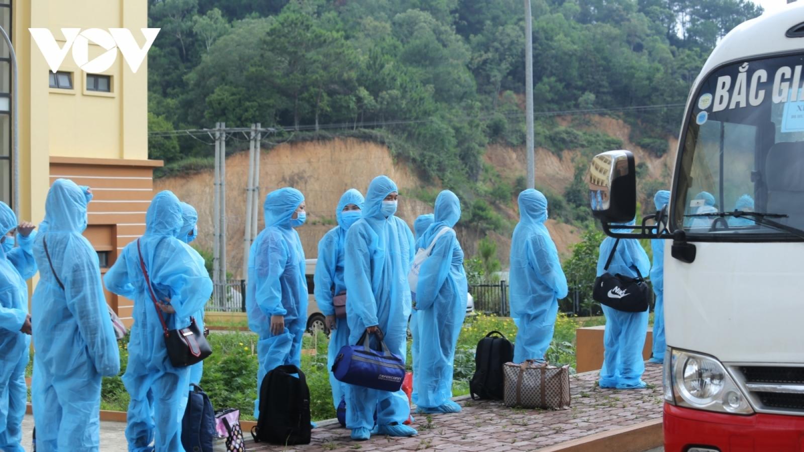 Hà Nội sẽ đón 286 công dân từ Bắc Giang về địa phương trong ngày 15/6
