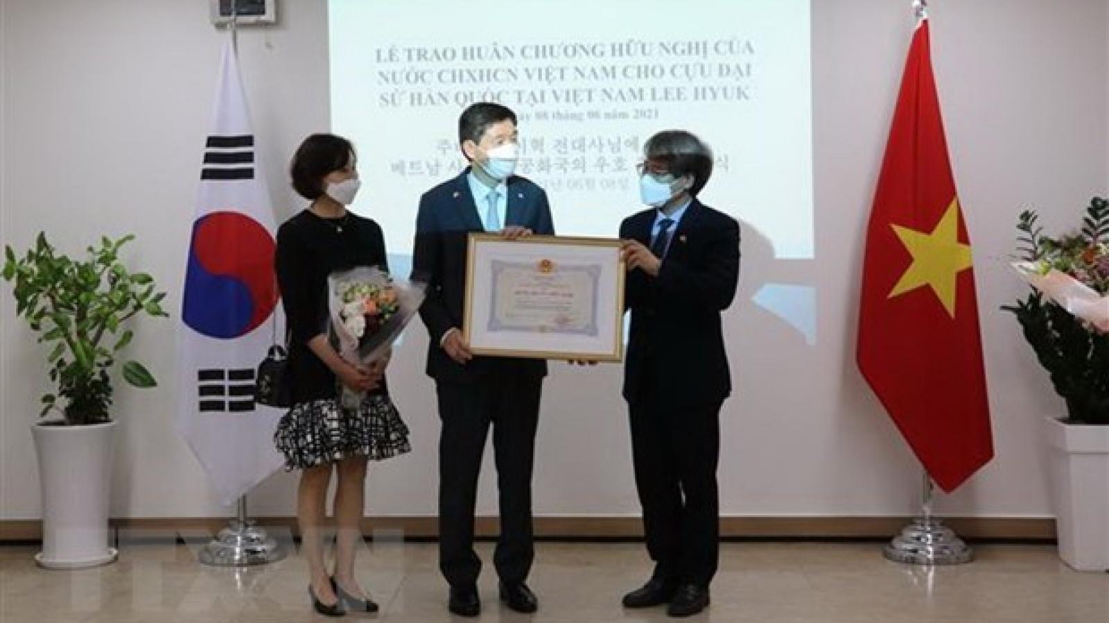 Former RoK Ambassador to Vietnam honoured with Friendship Order