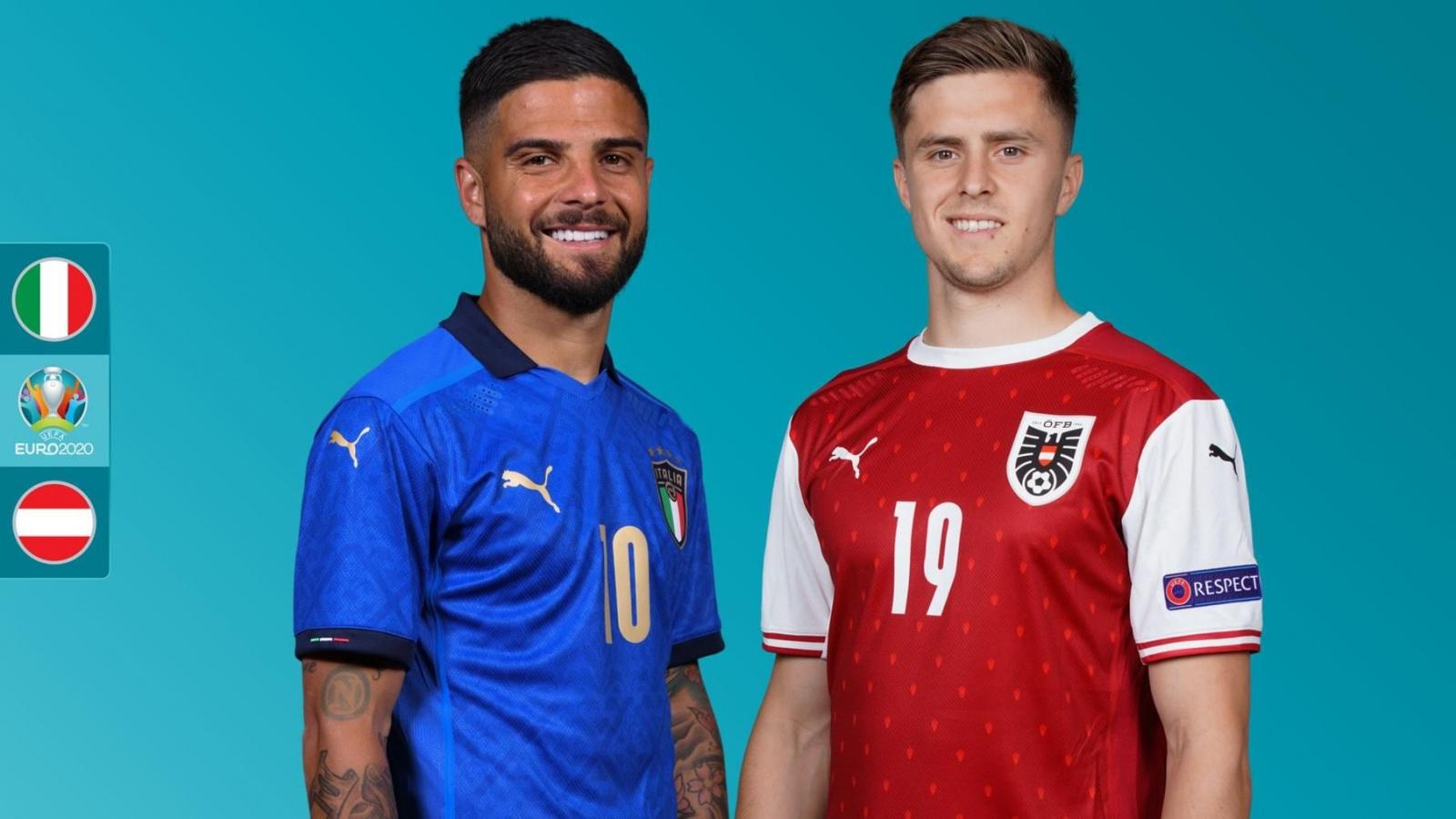 Lịch thi đấu EURO 2021 hôm nay 26/6: Italia so tài Áo, Xứ Wales gặp Đan Mạch