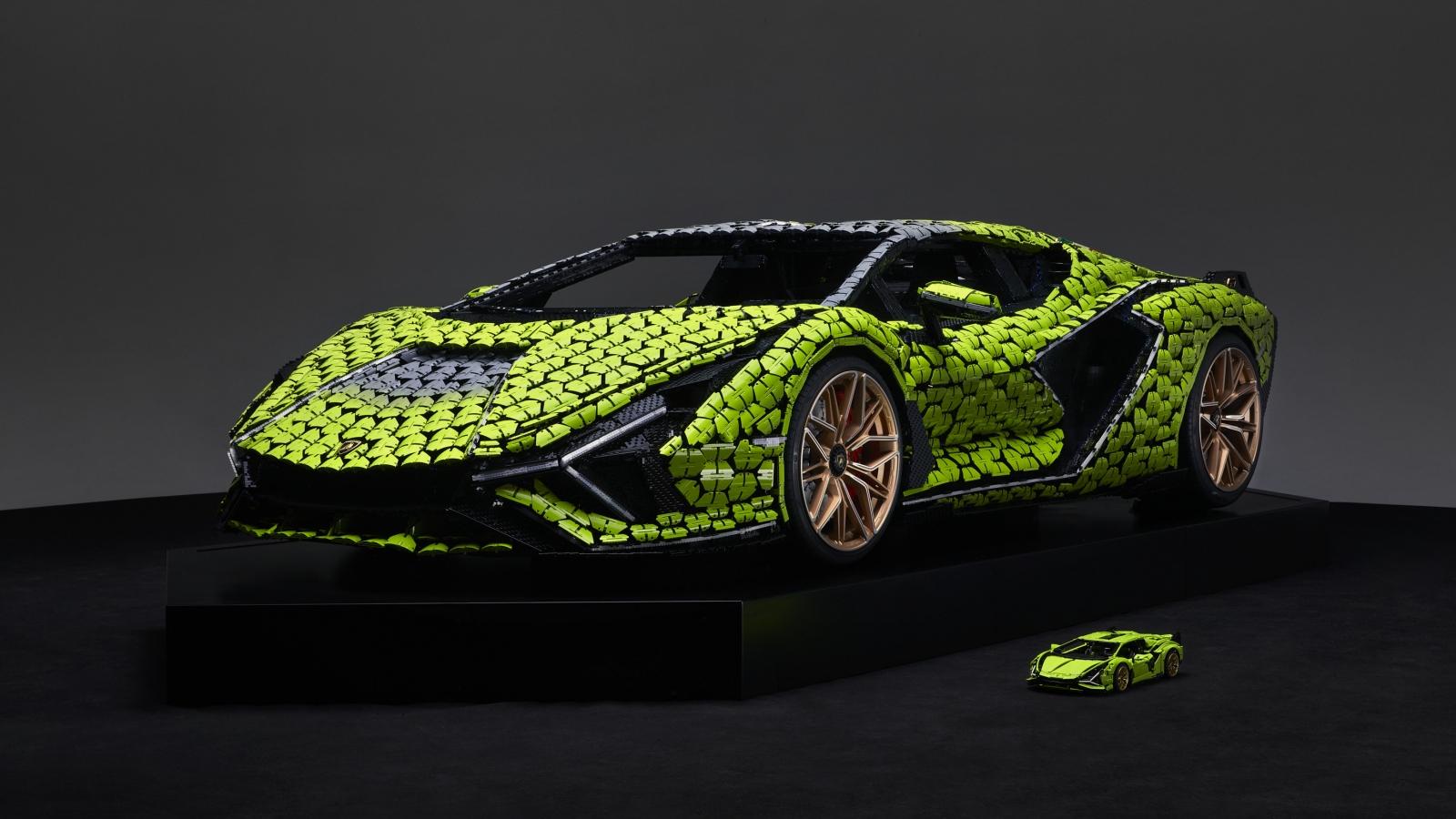 Lego hợp tác cùng Lamborghini ra mắt mô hình của siêu phẩm Sián FKP37 tỉ lệ thật