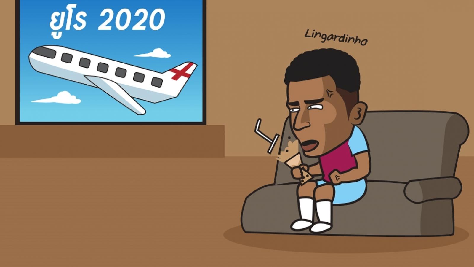 Biếm họa 24h: Lingardinho ngồi nhà xem EURO qua màn ảnh nhỏ