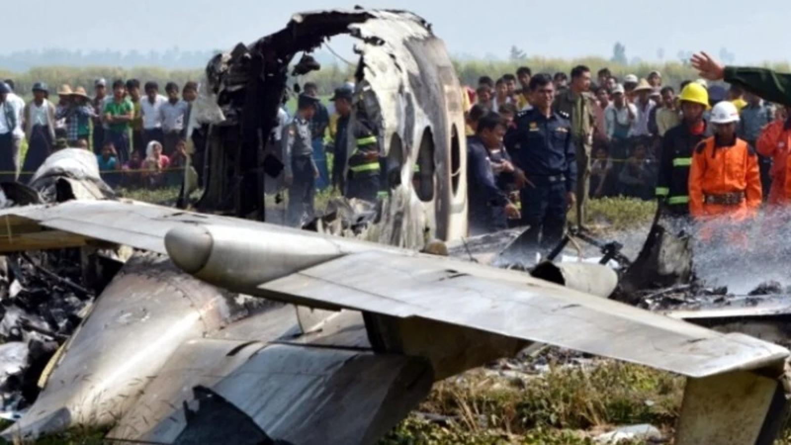 Máy bay quân sự Myanmar gặp nạn, ít nhất 12 người thiệt mạng