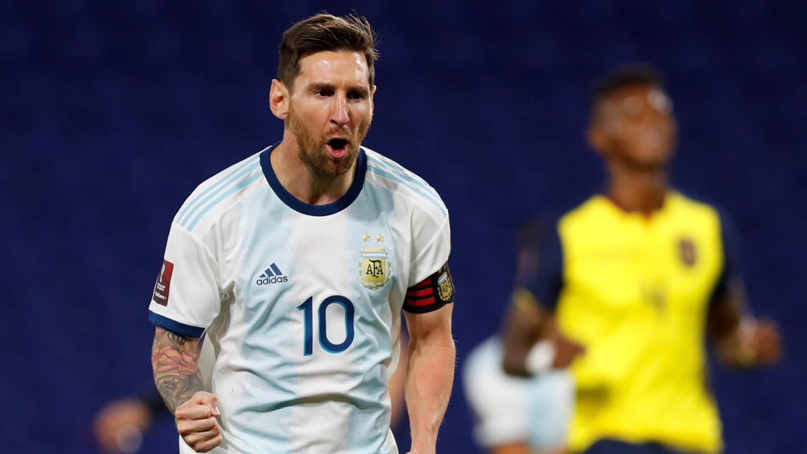 """Messi """"lĩnh xướng"""" đội hình Argentina đấu Chile ở vòng loại World Cup 2022"""