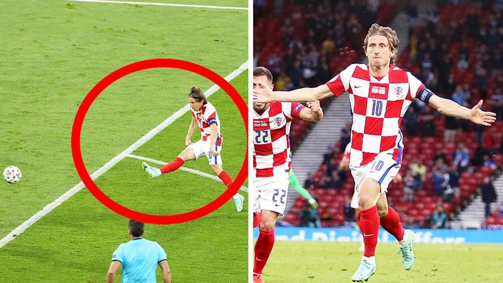 Luka Modric lập kỷ lục sau siêu phẩm trivela vào lưới Scotland