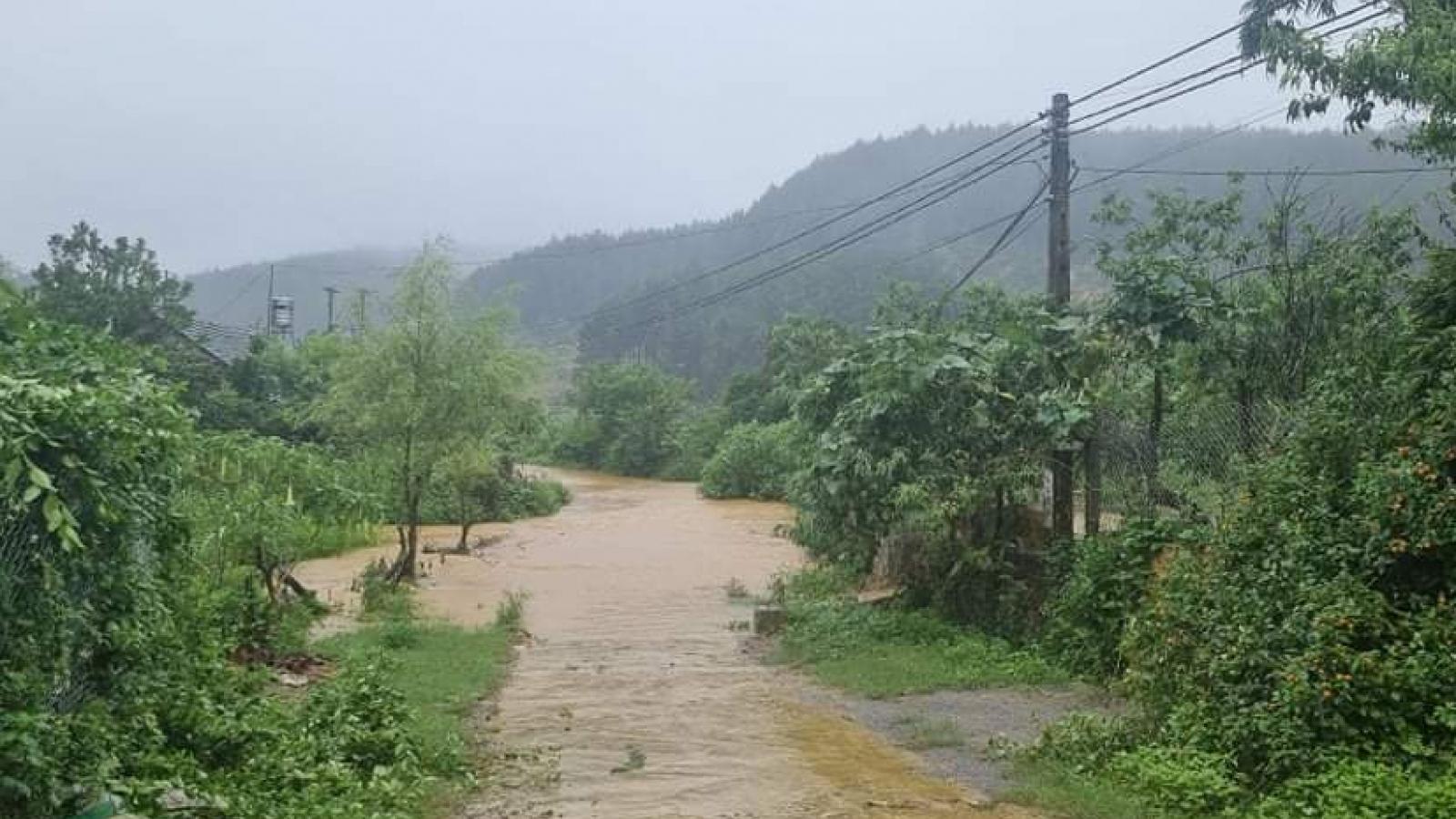 Nhiều nơi ở Sơn La có mưa rất to