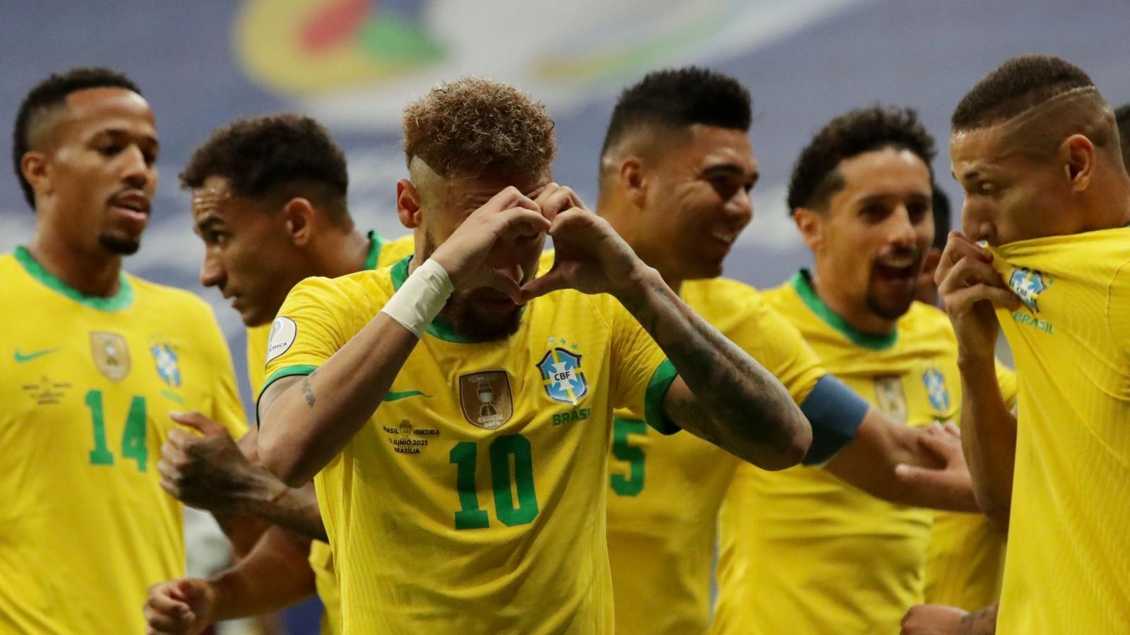 "Neymar thăng hoa, Brazil thắng Venezuela ""3 sao"" ngày khai mạc Copa America 2021"