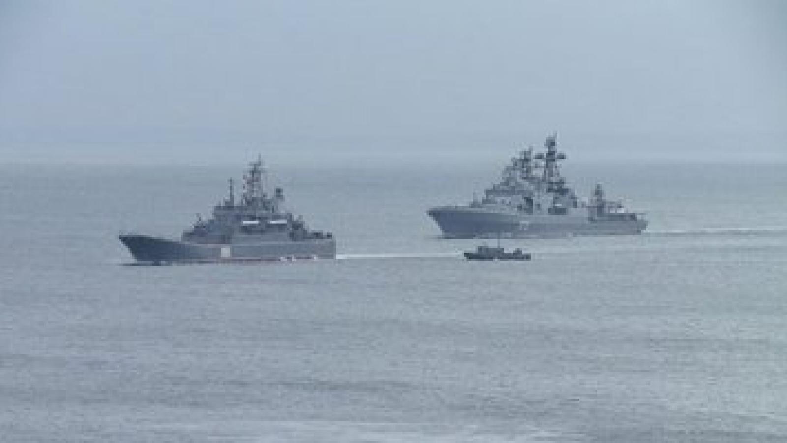 Hải quân Nga tập trận quy mô lớn ở khu vực Thái Bình Dương