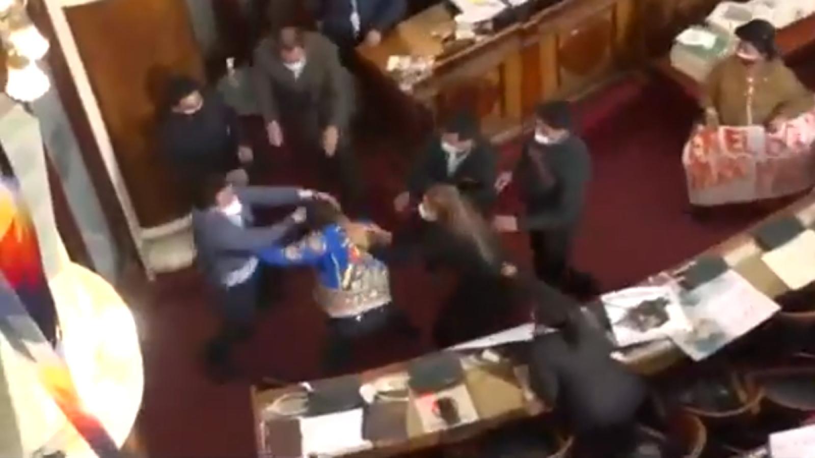 Nghị sỹ Bolivia ẩu đả ngay giữa cuộc họp Quốc hội