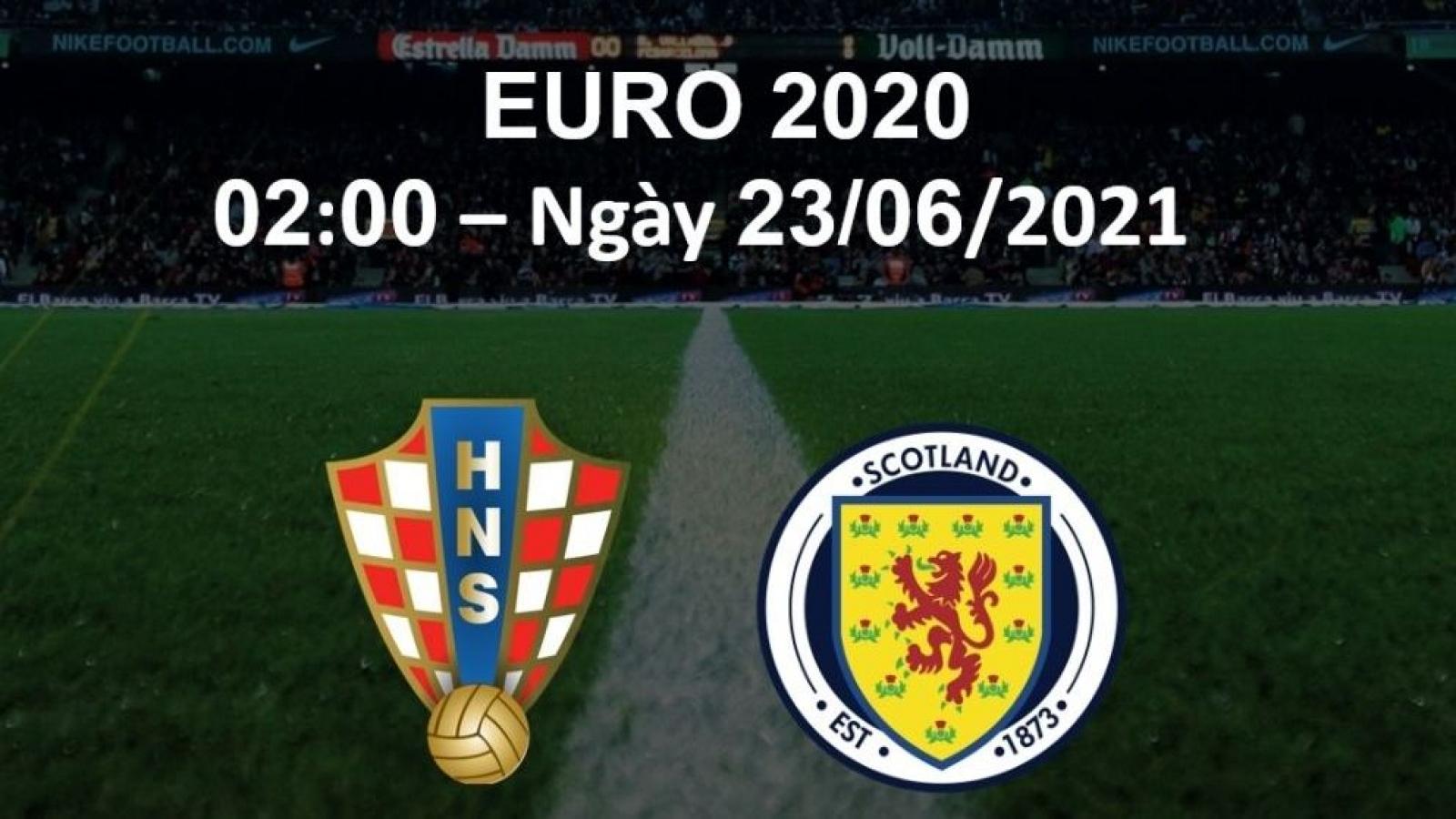 "Trực tiếp: Croatia vs Scotland: Trận chiến ""sinh tử"""