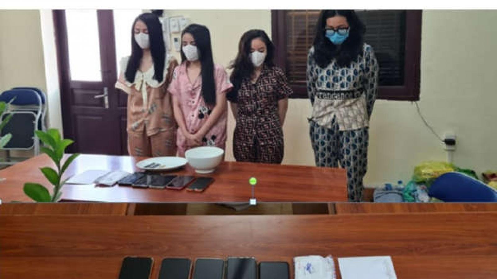 """Bắt giữ 4 đối tượng nữ tổ chức """"tiệc"""" ma túy tại Hải Phòng"""