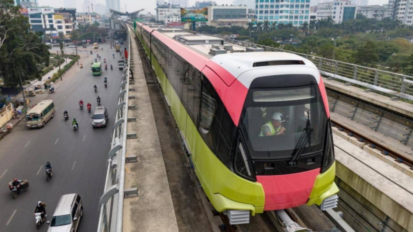 Sáng nay (1/7), đoàn tàu Nhổn - ga Hà Nội bắt đầu chạy thử nghiệm an toàn