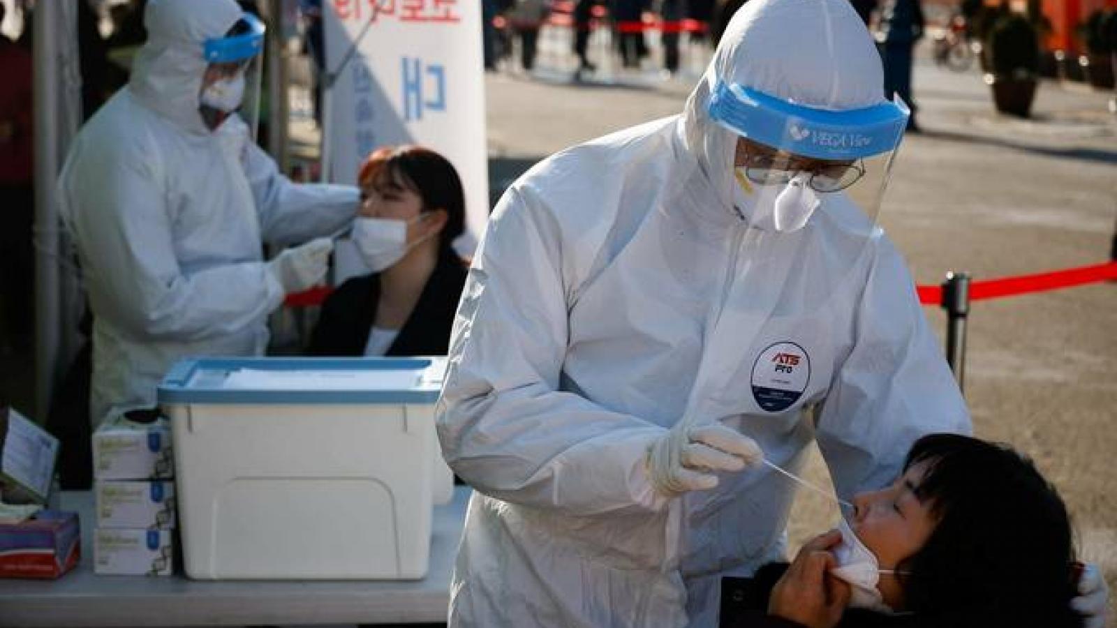 Số ca mắc Covid-19 tại Hàn Quốc gia tăng
